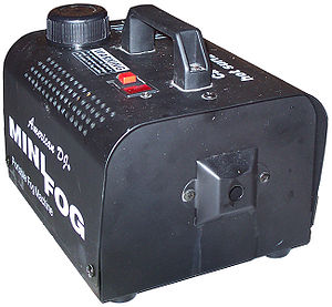 Fog machine - A small fog machine for residential use.
