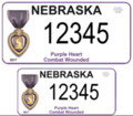 Nebraska Purple Heart Combat Wounded license plate 2.png