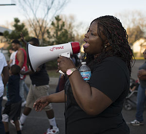 Nekima Levy-Pounds - Image: Nekima Levy Pounds at Black Lives Matter march, April 2015