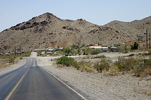 Nelson, Nevada - View of Nelson, from the west