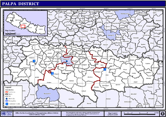 Palpa District - Map of Palpa District