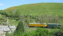 Network Rail 57132 and 73136 Perseverance at Corfe Castle (7225326116).jpg