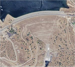 New Don Pedro Dam - Aerial view of New Don Pedro Dam