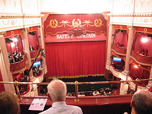 New Theatre, Cardiff - The stage from the balcony and boxes to left and right