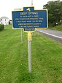 New York State historic marker – Deep Spring.jpg