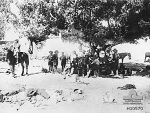 ANZAC Mounted Division - New Zealand Brigade headquarters outside Jaffa