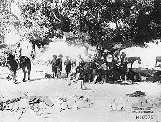 ANZAC Mounted Division - New Zealand Brigade headquarters outside Jaffa