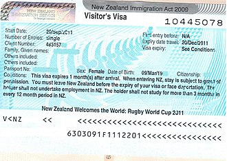Visa policy of New Zealand - New Zealand Visa