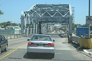 Passaic River - The Bridge Street Bridge spans the Passaic River connecting Newark and Harrison