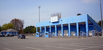 Methuen, Massachusetts - Nicholson Stadium, home of the Methuen Rangers