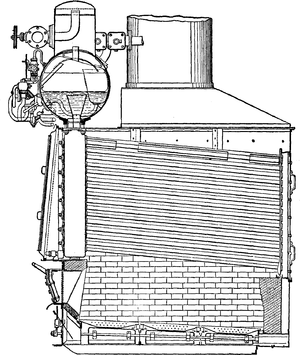 Field-tube boiler - Niclausse boiler, from the 1911 Encyclopædia Britannica