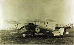 Nieuport 12 - Royal Flying Corps Nieuport 12 built by Beardmore. Elevator stripes were a Beardmore trademark.