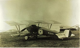 Nieuport 12 - Royal Flying Corps Nieuport 12 built by Beardmore. Elevator stripes were a Beardmore trademark.