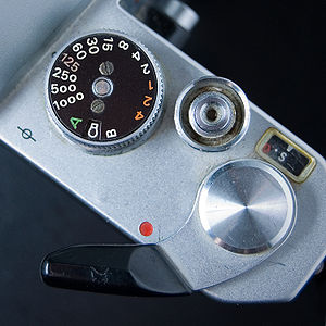 Shutter speed - The shutter speed dial of a Nikkormat EL