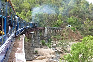 Nilgiri Mountain Railway - NMR traversing over a bridge