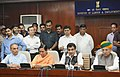 Nitin Gadkari along with the Ministers of State for Water Resources, River Development and Ganga Rejuvenation.jpg