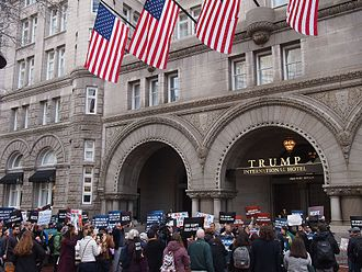 Donald Trump presidential campaign, 2020 - The campaign held its first fundraiser at Trump's own hotel in Washington, D.C.