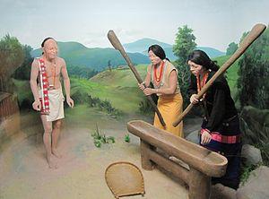 Nocte people - Diorama of Nocte people in Jawaharlal Nehru Museum, Itanagar.