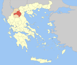 Kozani within Greece