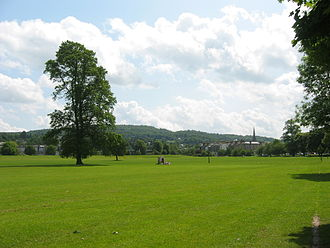 Battle of the North Inch - Perth's North Inch in modern times, looking southeast towards the city's eastern edge.
