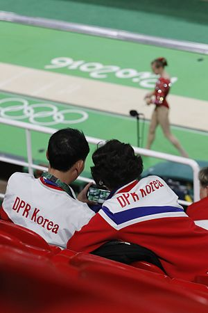 North Korea at the 2016 Summer Olympics - North Koreans observed women's artistic gymnastics training in Rio.