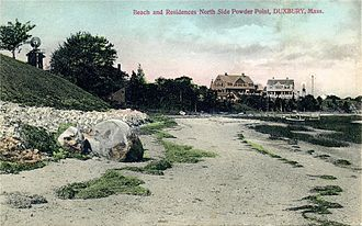 Duxbury, Massachusetts - Beach and residences c. 1910