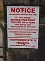 Notice excluding duty of care to farm visitors - geograph.org.uk - 1269124.jpg