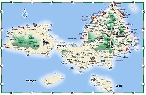 Map Of Margarita Island Margarita Island – Travel guide at Wikivoyage