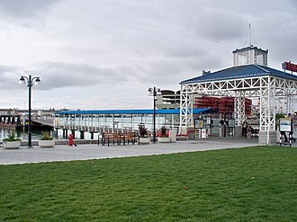 Jack London District, Oakland, California - The Oakland Ferry Terminal at the north end of Jack London Square