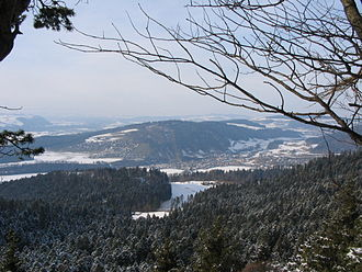 Oberdiessbach - Oberdiessbach town viewed from the Falkenfluh