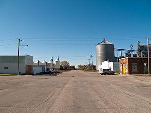 Oberon, North Dakota - Street in Oberon