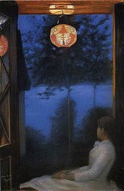 Oda krohg japansk lykt 1886