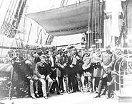 Officers of the USS Colorado off Korea in June 1871