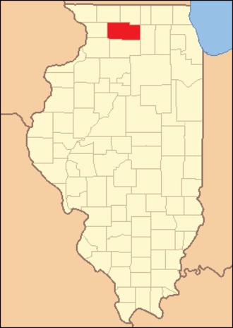 Ogle County, Illinois - Image: Ogle County Illinois 1839