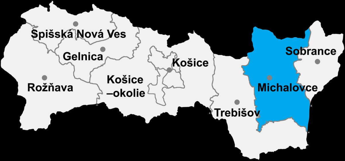 Bildergebnis für michalovce slovakia mapa