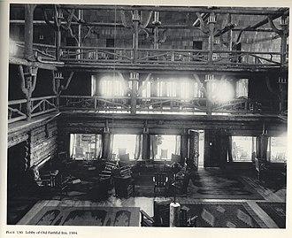 Old Faithful Inn - Image: Old Faithful Inn Lobby 1904FJHaynes