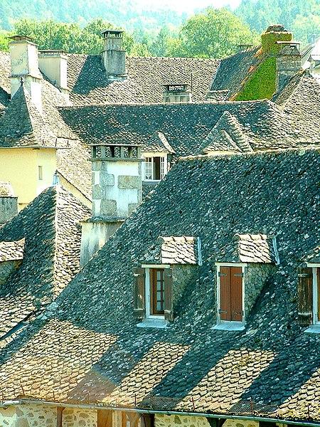 Toits de lauzes d'Argentat, Corrèze 2007.