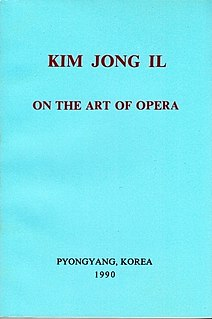 <i>On the Art of Opera</i> 1974 work by Kim Jong-il
