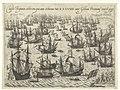 Ondergang van de Spaanse Armada, 1588 Classis Hispanica celeberrima quae anno celeberrimo MDLXXXVIII inter Galliam Britanniamq. venit & peryt (titel op object), RP-P-OB-80.067.jpg