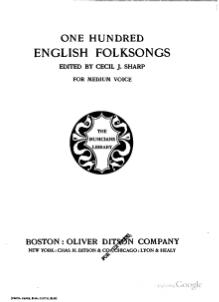 One Hundred English Folksongs (1916).djvu
