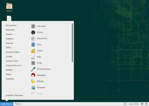 OpenSUSE 15.0 running SLE GNOME Classic session.png