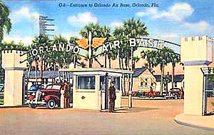 Naval Training Center Orlando - Orlando Army Air Base 1943 Postcard