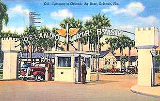 Naval Training Center Orlando - Orlando Army Air Base 1943 Postcard