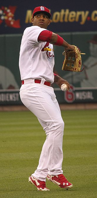 Oscar Taveras - Taveras playing for the St. Louis Cardinals in 2014