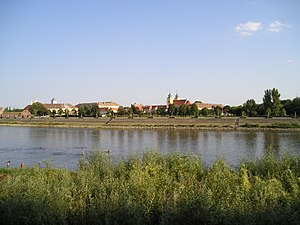 Tvrđa - Tvrđa viewed from across the River Drava (possible location of the former Suleiman Bridge).