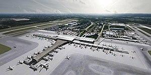 Oslo Lufthavn 2017 - visualisering luftperspektiv dag