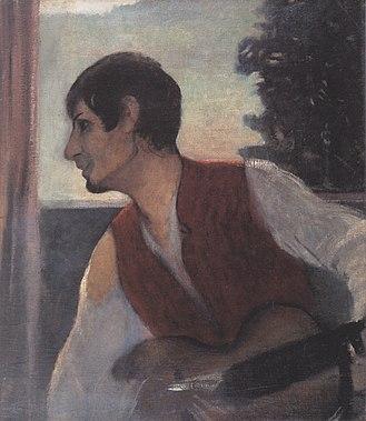 Otto Mueller - Image: Otto Mueller Selbstbildnis mit Gitarre 1903 04