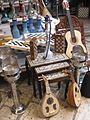 Ouds, chessboards, hookahs, and a guitar (Akko Market, 2009).jpg