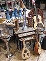 Ouds, chessboards, hookahs, and a guitar (Akko Market, 2009).jpg