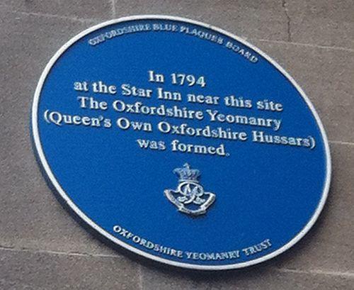 Oxfordshire yeomanry plaque